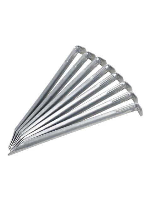 CAMPZ Piquetas de acero - Accesorios para tienda de campaña - 22cm 1,5mm gris